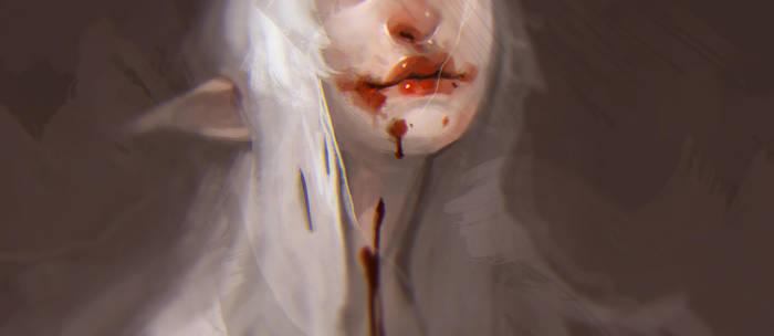 The feasting queen by Beastysakura