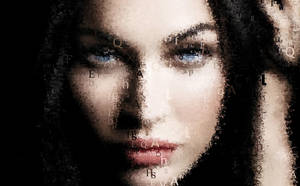 Megan Fox - Font Art by BlackenedTitan