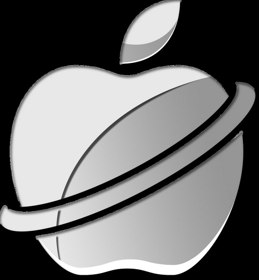 Apple Logo Redesign - Alternate Version by BlackenedTitan