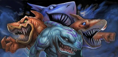 Street Sharks Final by SketchMonster1