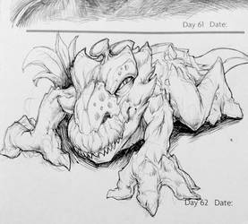 Monster Movie Creature Sketch by SketchMonster1