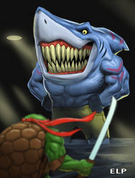 Street Shark in Turtle Town by SketchMonster1