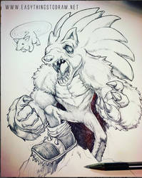 Sonic the Werehog - Sketch by SketchMonster1