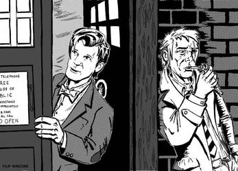 The Doctor and John Constantine by Flip-R