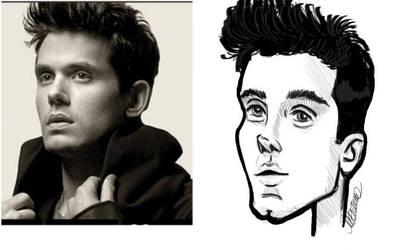 John Mayer Caricatura by lhaiza-morena