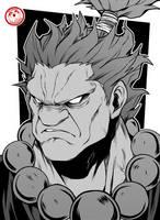 Akuma - Street Fighter by TheFresco