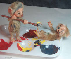 Mice in my Studio by aleahklay