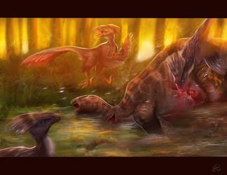 Dinosaurios scene by judson8