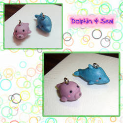 Dolphin and Seal Charms by silver-of-the-star
