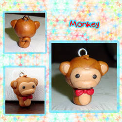 Monkey Charm by silver-of-the-star