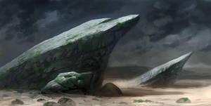 Speedpainting rocks by Grimhel