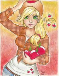Applejack by KimiCookie