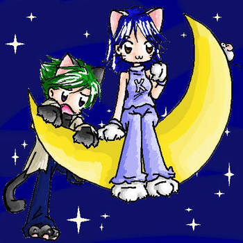 Kitty Korner - On the Moon by kurosu