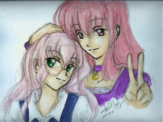 Mayura and Hel-chan (color) by kurosu