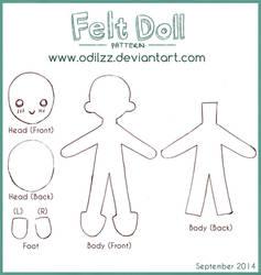 Felt doll pattern (new) by odilzz