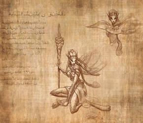 Faerie: Adventurer's Journal Twitch Drawing by drbjrart