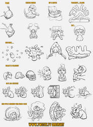 PUBG Twitch Emotes - Inked by drbjrart