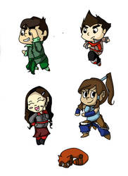 Korra Stickers by twirler56