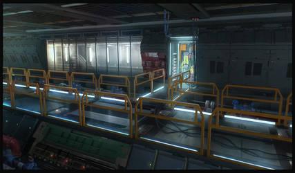 Sci Fi Corridor by guchi