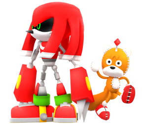Metal Knuckles and Tails doll Render by Nibroc-Rock