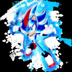 What if: Shadow as Super Saiyan Blue Evolution by Nibroc-Rock