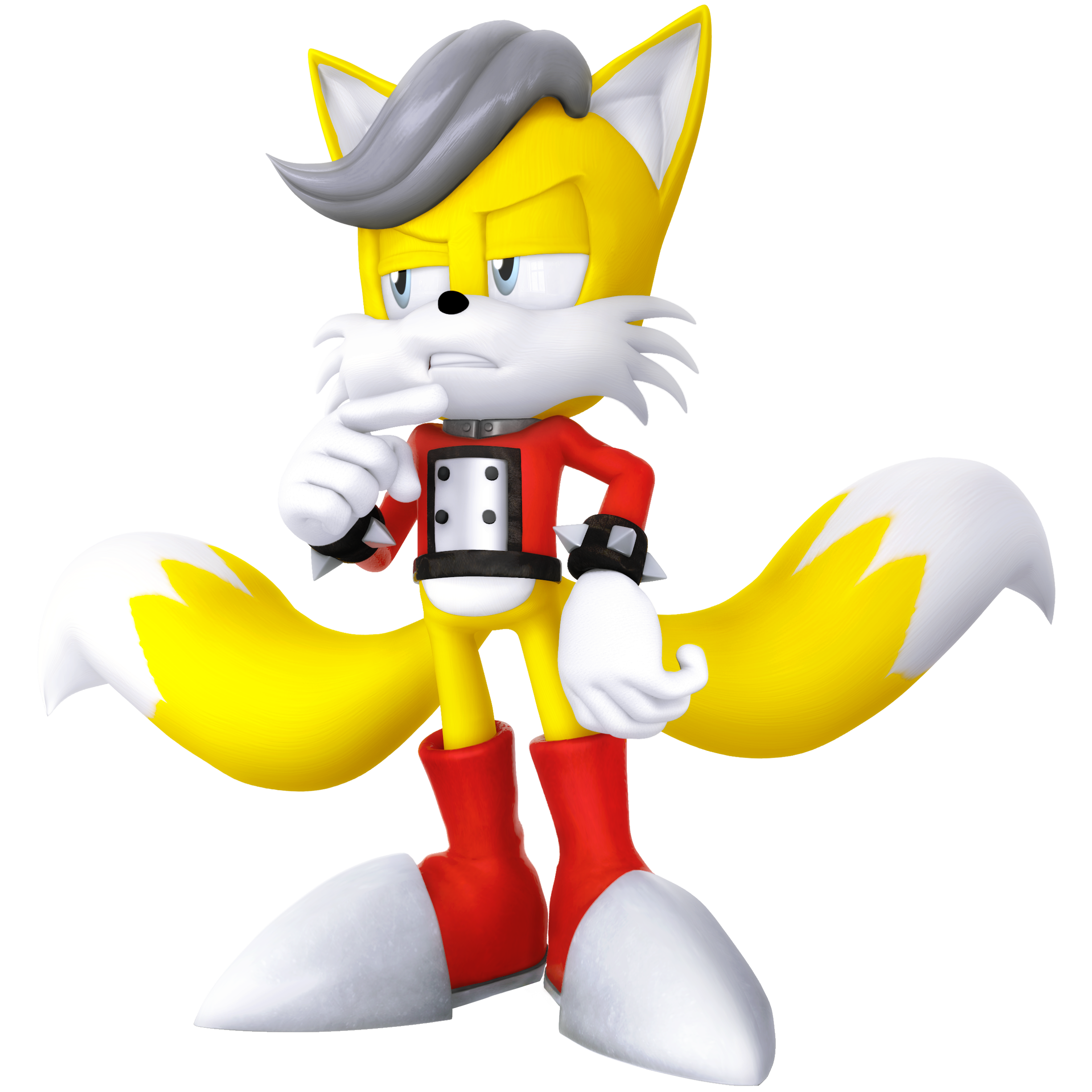 Miles the Anti Tails Legacy Render by Nibroc-Rock
