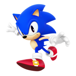 Classic Sonic Dimensional Render by Nibroc-Rock
