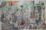 town scene by willartmaster