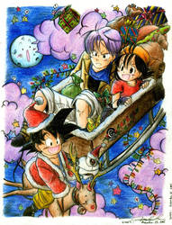 DBGT- Christmas Wild Ride by mingming07