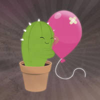 cactus + balloon by dani9del9