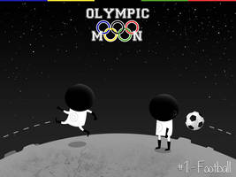Olympic Moon #1 - Football by dani9del9