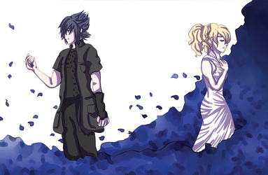 Noctis and Lunafreya by eastdownpour