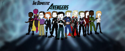The Domestic Avengers by xRockAttitude