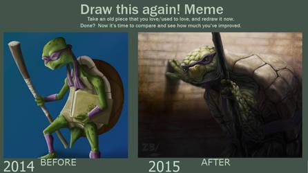 Draw This Again Meme - Old Age Mutant Nija Turtle by Zoltan86
