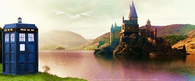 TARDIS at Hogwarts by KMeaghan