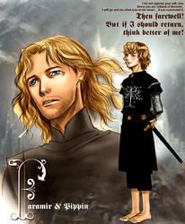 Faramir and Pippin by idolwild