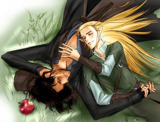 Aragorn and Legolas by idolwild