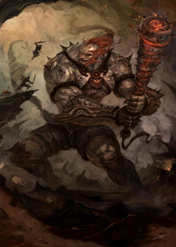 Yaksa Warrior by Jessada-Art