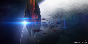Distant Star Card - Orbital Fortress by abigbat