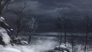 Spitpaint - Winter Landscape by abigbat