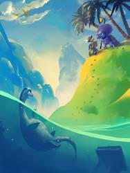 Dinotribes Title Screen by abigbat