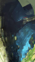 Cave Crossing by abigbat