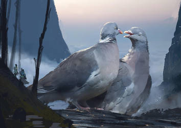 Pigeon Lords by abigbat