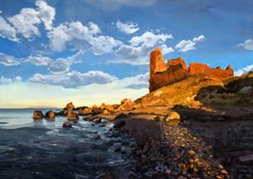 Home II - Dunure Castle by abigbat