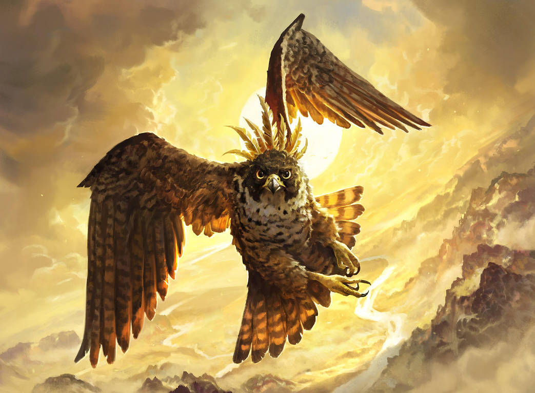 MTG - Rustwing Falcon by abigbat
