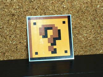Question Block Glossy Sticker by MrCadavero