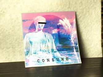 Vaporwave CONSUME Glossy Sticker by MrCadavero