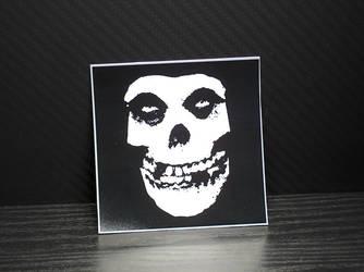 Misfits Skull Glossy Sticker by MrCadavero