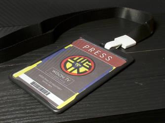 WGON TV Press Lanyard + Card by MrCadavero