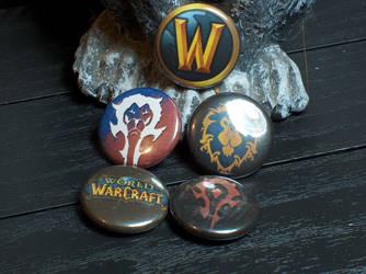 World of Warcraft Pin-On Punk Buttons - Set of 5 by MrCadavero